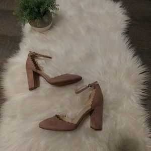 Marc Fisher Scallop Block Heels